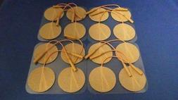16 Electrodes Pads Tens Units 2 Inch Round TAN Cloth Free Sh