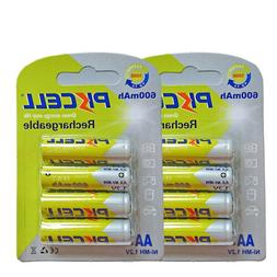8pcs AA Batteries NI-MH Rechargeable 1.2V 600mAh Cell For So
