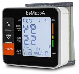 AccuMed ABP801 Portable Wrist Blood Pressure Monitor with On