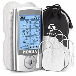 AUVON Rechargeable Tens Unit 3rd Gen 16 Mode Machine With Se