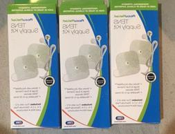 Lot Of 3 AccuRelief Universal TENS Unit Supply Kit TENS Unit